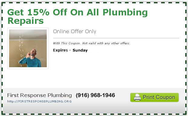 15% Off All Sacramento Plumbing Repairs