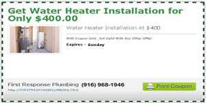 Get Water Heater Installation for Only $400.00